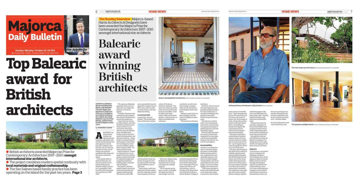 AWARDS.  Balearic Chapter of Architects – BEST HOUSE 2007-10