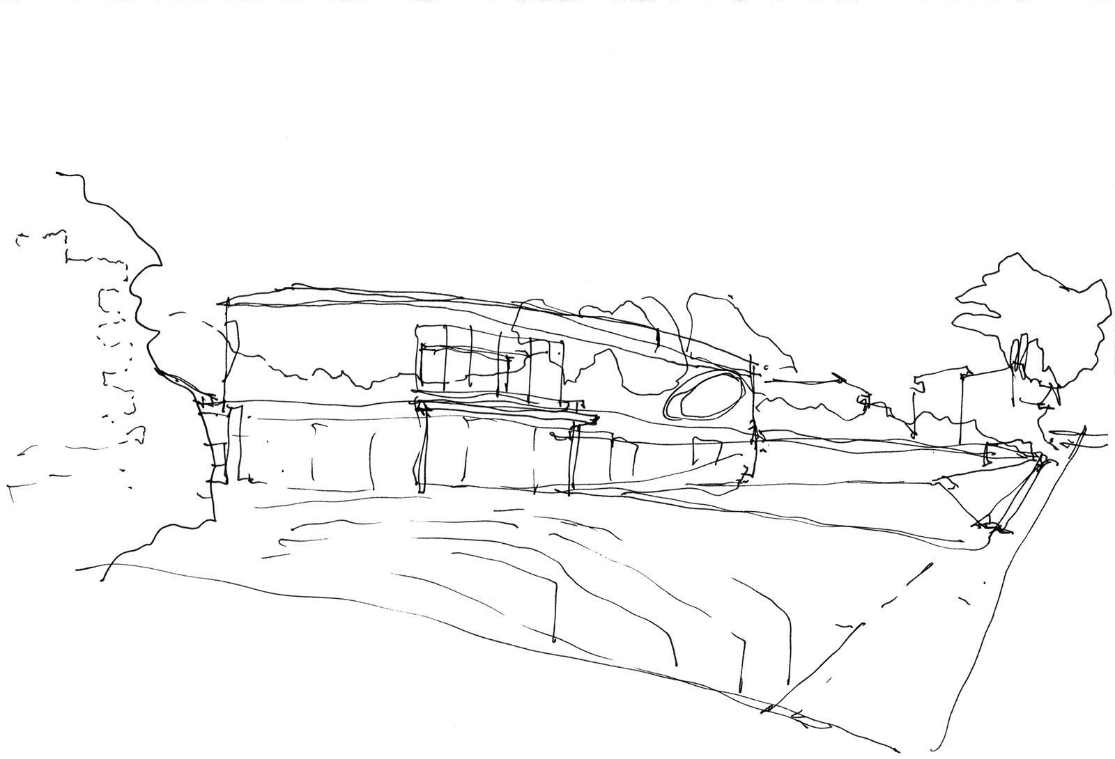 Sketch of a new villa in Pollensa